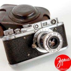 Cámara de fotos: CÁMARA ZORKI 1C, COPIA LEICA II. FUNDA ORIGINAL AÑO 1951. Lote 222706170