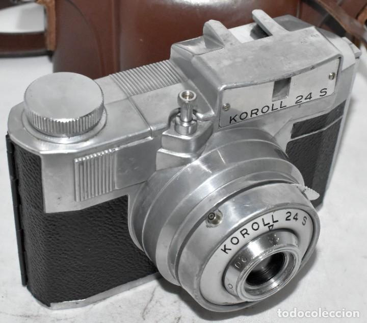 120 FILM..CAMARA CLASICA.. ITALIA 1953..BENCINI KOROLL 24 S+FUNDA..MUY BUEN ESTADO..FUNCIONA (Cámaras Fotográficas - Antiguas (hasta 1950))
