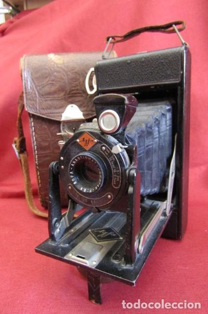 ANTIGUA CÁMARA DE FOTOS ALEMANA DE FUELLE PLEGABLE AGFA MODELO BILLY IGETAR AÑO 1928 1930 Y FUNCIONA (Cámaras Fotográficas - Antiguas (hasta 1950))