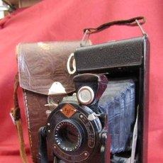 Cámara de fotos: ANTIGUA CÁMARA DE FOTOS ALEMANA DE FUELLE PLEGABLE AGFA MODELO BILLY IGETAR AÑO 1928 1930 Y FUNCIONA. Lote 224208283