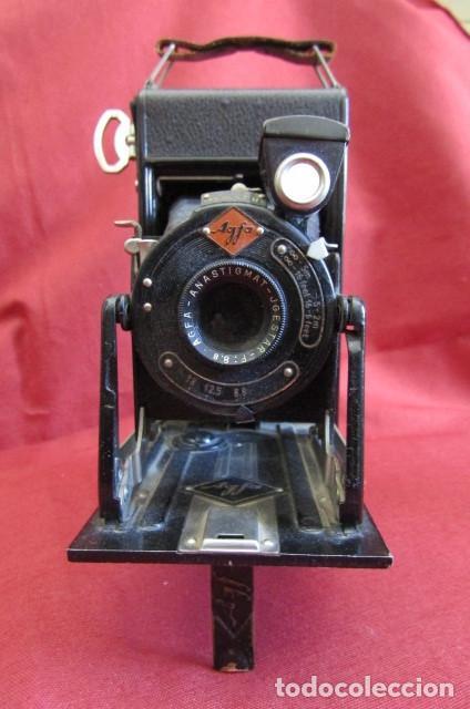 Cámara de fotos: Antigua cámara de fotos alemana de fuelle plegable Agfa modelo Billy Igetar año 1928 1930 y funciona - Foto 2 - 224208283