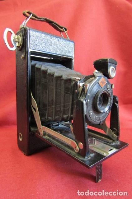 Cámara de fotos: Antigua cámara de fotos alemana de fuelle plegable Agfa modelo Billy Igetar año 1928 1930 y funciona - Foto 3 - 224208283