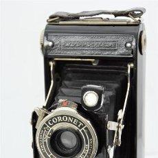 Cámara de fotos: CÁMARA CORONET DE LUXE 120 FOLDING DE 1926. Lote 224663668