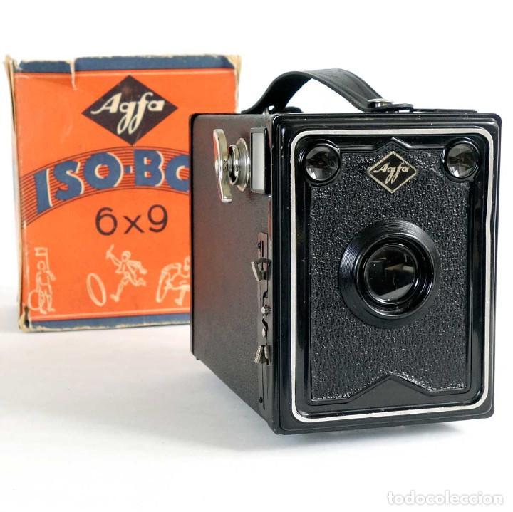 CÁMARA AGFA ISO-BOX 6X9. ALEMANIA 1933. FUNCIONA (Cámaras Fotográficas - Antiguas (hasta 1950))