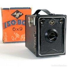 Cámara de fotos: CÁMARA AGFA ISO-BOX 6X9. ALEMANIA 1933. FUNCIONA. Lote 229529400