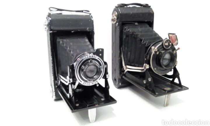 DOS CÁMARAS DE FUELLE ZEISS IKON TELMA. UNA NETTAR 515/2 DE 1933 Y UNA IKONTA 520/2 DE 1929. (Cámaras Fotográficas - Antiguas (hasta 1950))