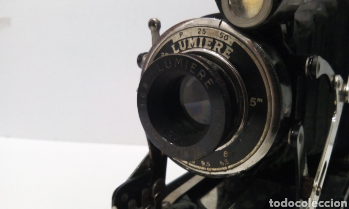 Cámara de fotos: DOS CÁMARAS DE FUELLE LUMIERE. LUMIERE Y LUMIREX III. CÁMARAS FRANCESAS. - Foto 15 - 231719630