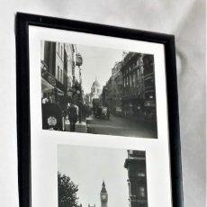 Cámara de fotos: CUADRO DE 105 CM CON 4 FOTOS DE LONDRES AÑOS 40 EN BLANCO Y NEGRO - *ENVÍO GRATIS PENÍNSULA. Lote 231912015