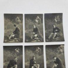 Cámara de fotos: LOTE FOTOS ANTIGUAS ENAMORADOS ( AÑO 1924 ). Lote 234915045