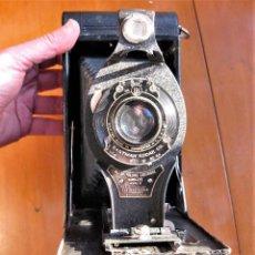 Cámara de fotos: EASTMAN KODAK Nº3 GRAN FORMATO FOLDING CARTRIDGE HAWK-EYE MADE IN USA ROCHESTER N.Y.. Lote 235380195