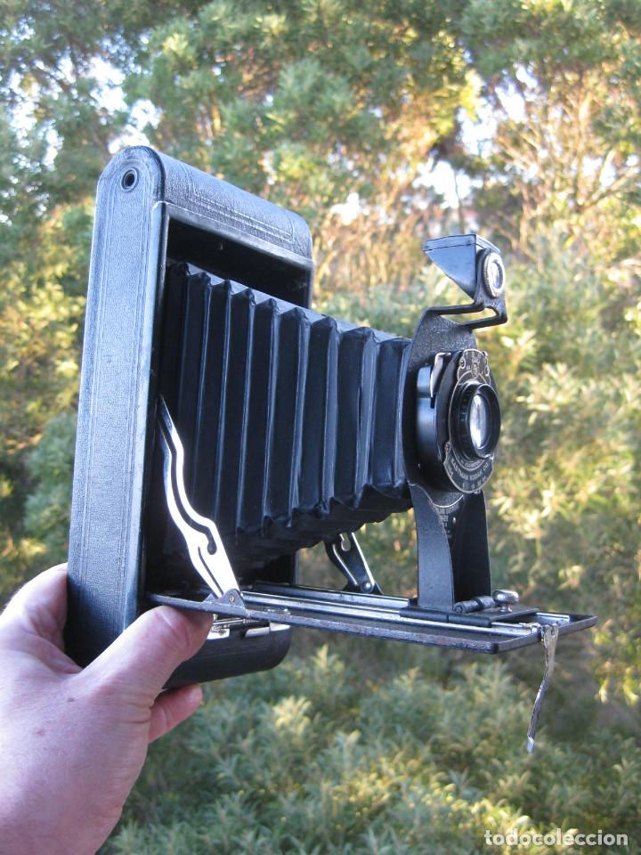 Cámara de fotos: EASTMAN KODAK Nº3 gran formato FOLDING CARTRIDGE HAWK-EYE MADE IN USA ROCHESTER N.Y. - Foto 2 - 235380195