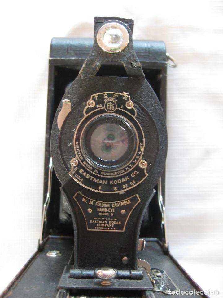 Cámara de fotos: EASTMAN KODAK Nº3 gran formato FOLDING CARTRIDGE HAWK-EYE MADE IN USA ROCHESTER N.Y. - Foto 4 - 235380195