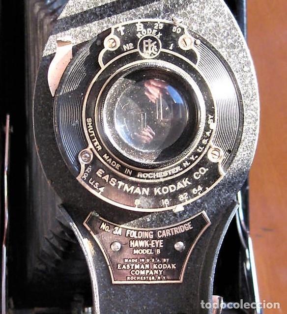Cámara de fotos: EASTMAN KODAK Nº3 gran formato FOLDING CARTRIDGE HAWK-EYE MADE IN USA ROCHESTER N.Y. - Foto 8 - 235380195
