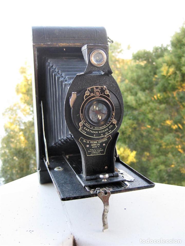 Cámara de fotos: EASTMAN KODAK Nº3 gran formato FOLDING CARTRIDGE HAWK-EYE MADE IN USA ROCHESTER N.Y. - Foto 10 - 235380195