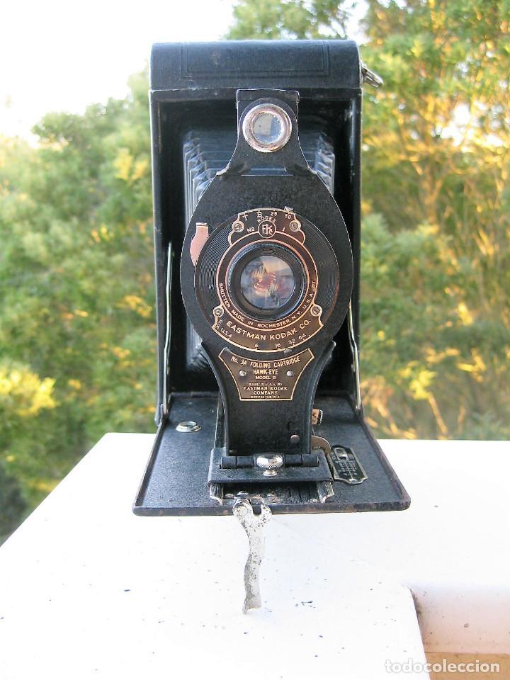 Cámara de fotos: EASTMAN KODAK Nº3 gran formato FOLDING CARTRIDGE HAWK-EYE MADE IN USA ROCHESTER N.Y. - Foto 11 - 235380195