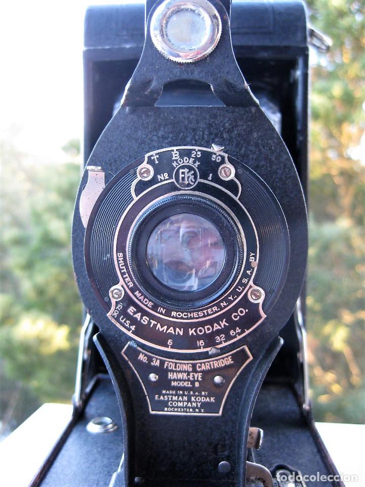 Cámara de fotos: EASTMAN KODAK Nº3 gran formato FOLDING CARTRIDGE HAWK-EYE MADE IN USA ROCHESTER N.Y. - Foto 12 - 235380195