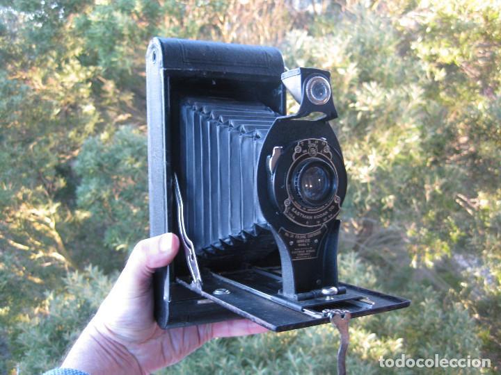Cámara de fotos: EASTMAN KODAK Nº3 gran formato FOLDING CARTRIDGE HAWK-EYE MADE IN USA ROCHESTER N.Y. - Foto 13 - 235380195