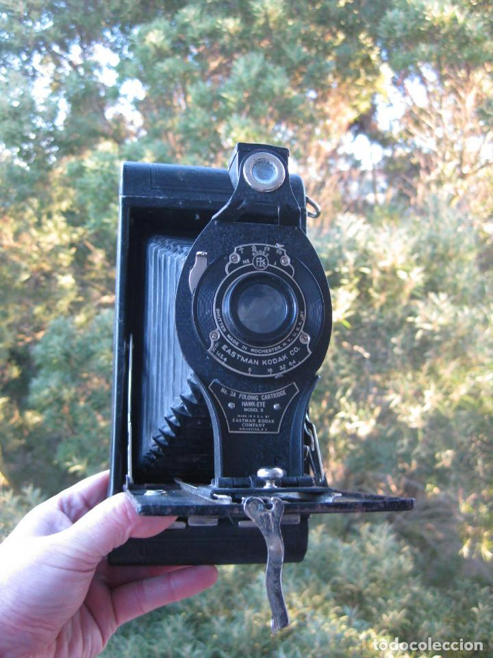 Cámara de fotos: EASTMAN KODAK Nº3 gran formato FOLDING CARTRIDGE HAWK-EYE MADE IN USA ROCHESTER N.Y. - Foto 14 - 235380195