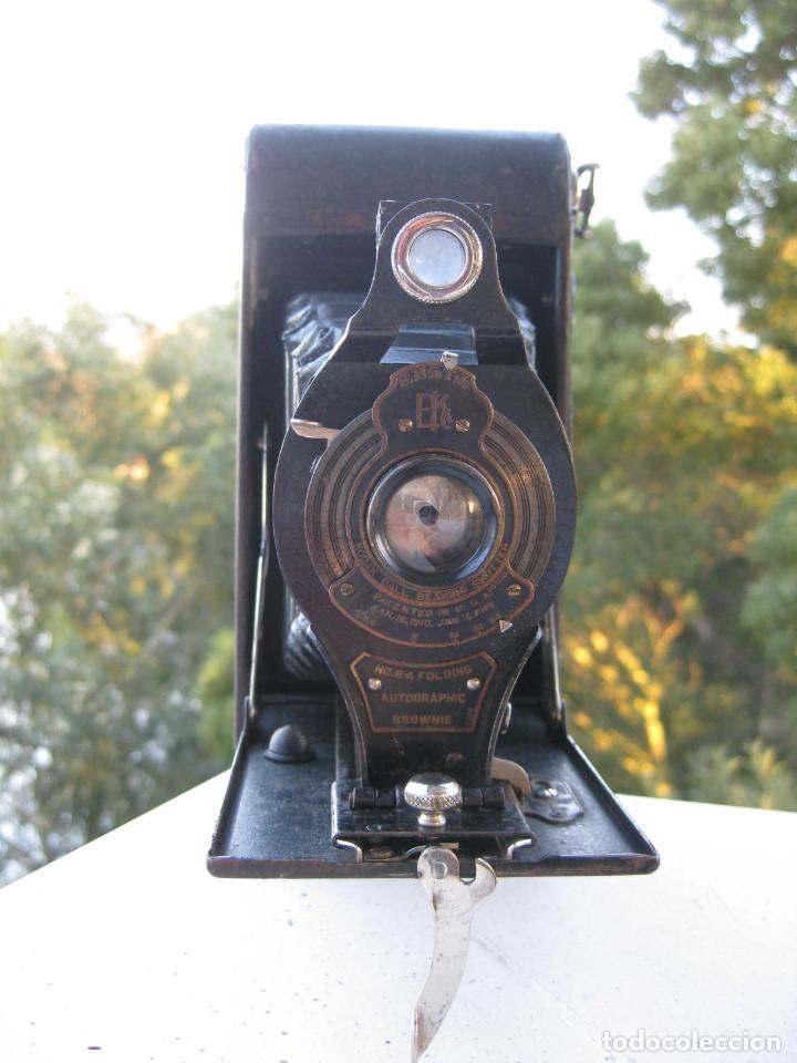 Cámara de fotos: KODAK BALL BEARING SHUTER Nº 2-A FOLDING AUTOGRAPHIC BROWNIE MADE IN USA ROCHESTER N.Y. - Foto 2 - 235380430