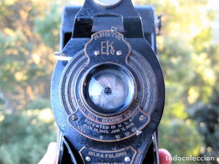 Cámara de fotos: KODAK BALL BEARING SHUTER Nº 2-A FOLDING AUTOGRAPHIC BROWNIE MADE IN USA ROCHESTER N.Y. - Foto 4 - 235380430