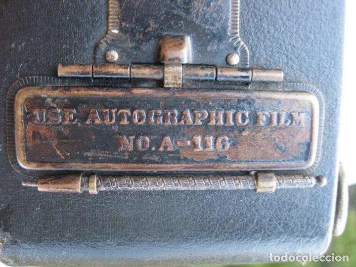 Cámara de fotos: KODAK BALL BEARING SHUTER Nº 2-A FOLDING AUTOGRAPHIC BROWNIE MADE IN USA ROCHESTER N.Y. - Foto 11 - 235380430