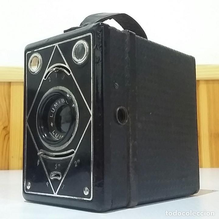 CÁMARA BOX LUMIERE LUMIBOX CON ZOOM PRINCIPIOS SIGLO XX, CON FUNDA,MUY BUEN ESTADO,RARA Y ESCASA (Cámaras Fotográficas - Antiguas (hasta 1950))