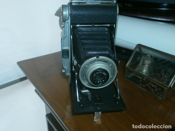 ANTIGUA CÁMARA FOTOGRÁFICA DE FUELLE CORONET RAPIDE MADE IN ENGLAND BUEN ESTADO (Cámaras Fotográficas - Antiguas (hasta 1950))