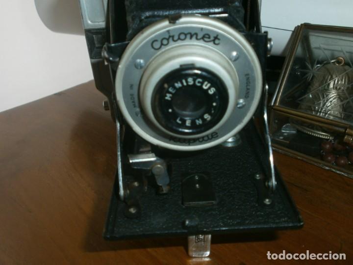 Cámara de fotos: Antigua Cámara fotográfica de fuelle Coronet Rapide Made in England buen estado - Foto 4 - 236527670