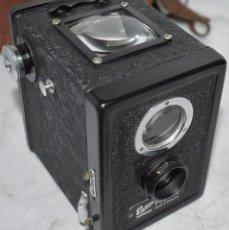 Cámara de fotos: RAREZA, PRIMER MODELO, ENSIGN FUL VUE BOX+FUNDA..PRE-GUERRA, INGLATERRA 1939..BUEN ESTADO.FUNCIONA. Lote 236872655