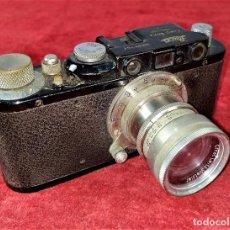 Cámara de fotos: CÁMARA LEICA II. N. 97761. OBJETIVO SUMMAR F . 5 CM 1:2. ALEMANIA. FUNDA ORIGINAL. CIRCA 1930. Lote 237656120