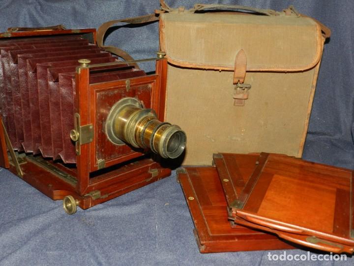 (M) CAMARA FOTOGRÁFICA S.XIX - S VILLAS, BARCELONA, VER FOTOGRAFIAS ADICOONALES, SEÑALES DE USO (Cámaras Fotográficas - Antiguas (hasta 1950))