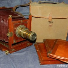 Cámara de fotos: (M) CAMARA FOTOGRÁFICA S.XIX - S VILLAS, BARCELONA, VER FOTOGRAFIAS ADICOONALES, SEÑALES DE USO. Lote 237657520