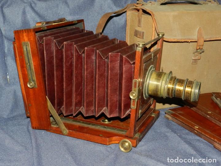 Cámara de fotos: (M) CAMARA FOTOGRÁFICA S.XIX - S VILLAS, BARCELONA, VER FOTOGRAFIAS ADICOONALES, SEÑALES DE USO - Foto 2 - 237657520