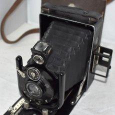 Cámara de fotos: ANTIGUA, FUELLE Y PLACAS 6,5X9..VOIGTLANDER VAG..ALEMANIA 1927..MUY BUEN ESTADO..FUNCIONA. Lote 240799020