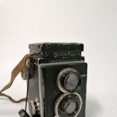Cámara de fotos: CÁMARA ANALÓGICA ROLLEIFLEX DE 1929. FUNCIONANDO CON FUNDA.. Lote 245961570