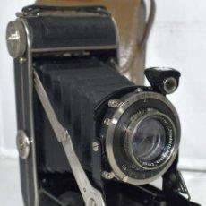 Cámara de fotos: RAREZA, DESCONOCIDA..FORMATO MEDIO, 120..MULLER NORIS+FUNDA.ALEMANIA 1936..MUY BUEN ESTADO..FUNCIONA. Lote 248569335