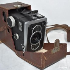 Cámara de fotos: EXCELENTE CALIDAD..ZEISS IKON BOX TENGOR 56/2+FUNDA..ALEMANIA 1948..MUY BUEN ESTADO..FUNCIONA. Lote 248578905