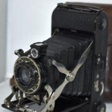 Cámara de fotos: OBJETIVO DORADO..INGLATERRA 1933.ART DECÓ.HOUGHTON ENSIGN SELFIX 20+FUNDA.MUY BUEN ESTADO.FUNCIONA. Lote 248755220