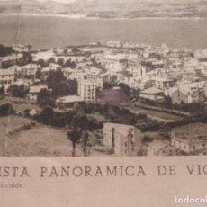 """Cámara de fotos: """"VISTA PANORAMICA DE VIGO"""" """"FOTO TOMÁS"""". AÑOS 50 . FOTO: 113 POR 13. MEDIDAS CON MARCO 124 POR 24. Lote 249040215"""