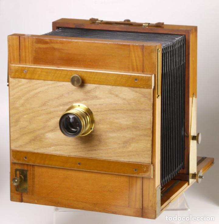 Cámara de fotos: cámara 24x24cm en madera de roble + objetivo de latón + chasis - Foto 2 - 260857760