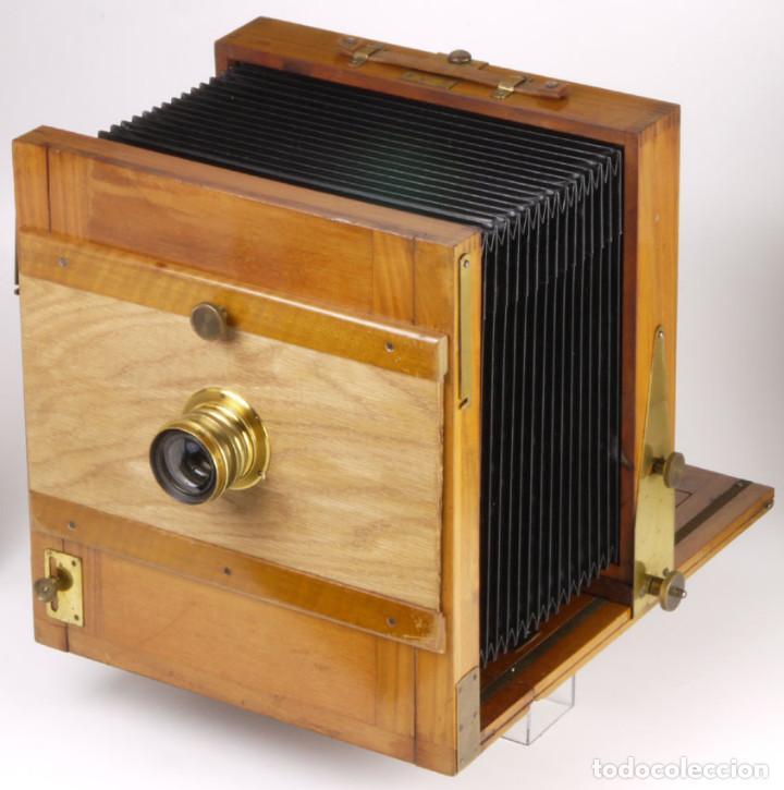 Cámara de fotos: cámara 24x24cm en madera de roble + objetivo de latón + chasis - Foto 3 - 260857760