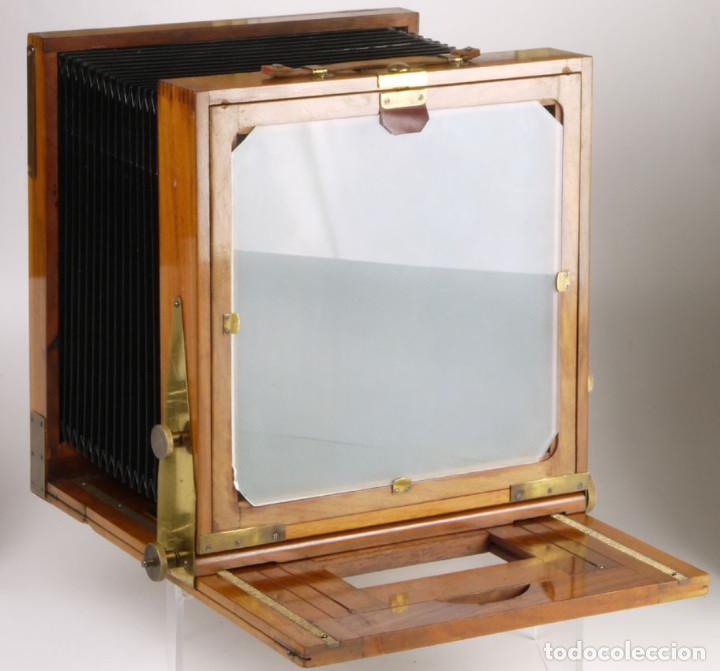 Cámara de fotos: cámara 24x24cm en madera de roble + objetivo de latón + chasis - Foto 4 - 260857760