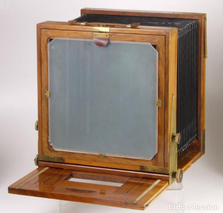 Cámara de fotos: cámara 24x24cm en madera de roble + objetivo de latón + chasis - Foto 5 - 260857760