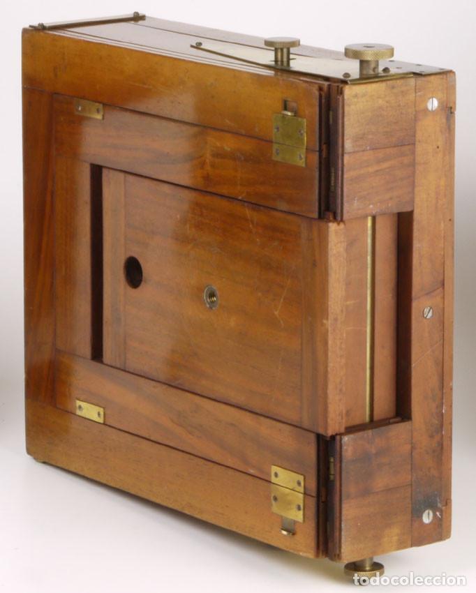 Cámara de fotos: cámara 24x24cm en madera de roble + objetivo de latón + chasis - Foto 6 - 260857760