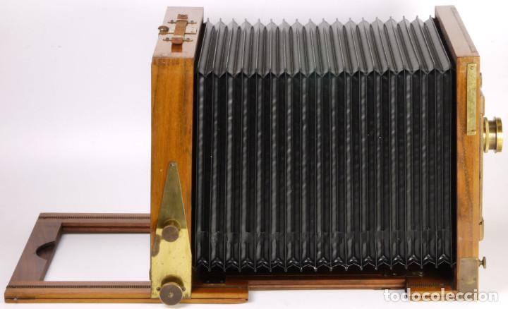 Cámara de fotos: cámara 24x24cm en madera de roble + objetivo de latón + chasis - Foto 7 - 260857760