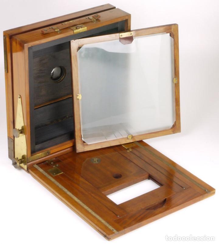 Cámara de fotos: cámara 24x24cm en madera de roble + objetivo de latón + chasis - Foto 8 - 260857760