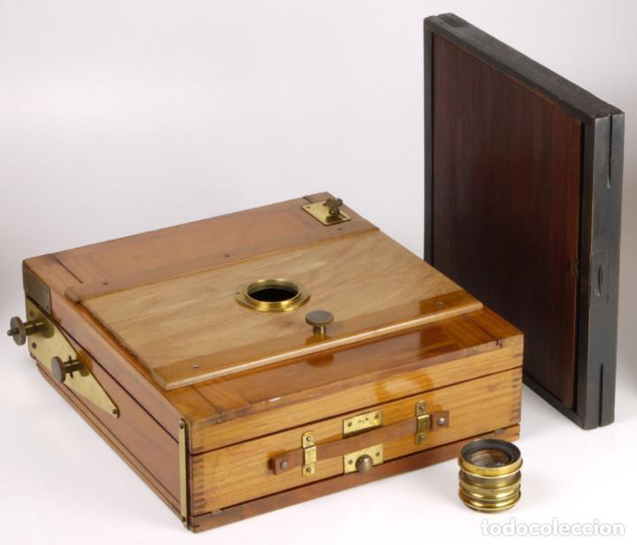 Cámara de fotos: cámara 24x24cm en madera de roble + objetivo de latón + chasis - Foto 9 - 260857760
