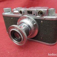 Cámara de fotos: ANTIGUA CÁMARA DE FOTOS FOTOGRÁFICA SOVIÉTICA RUSA URSS ALEMANA MODELO ZORKI TIPO LEICA II AÑO 1949. Lote 262449260