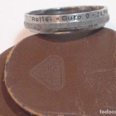 Cámara de fotos: FILTRO ROLLEI DUTO 28,5 MM CON ESTUCHE ORIGINAL. Lote 264359684