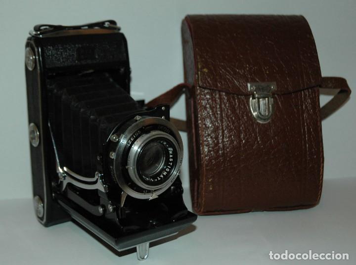CAMARA DE FUELLE 6X9 ZEISS IKONTA MODELO 521/2 CON ESTUCHE EN FUNCIONAMIENTO (Cámaras Fotográficas - Antiguas (hasta 1950))